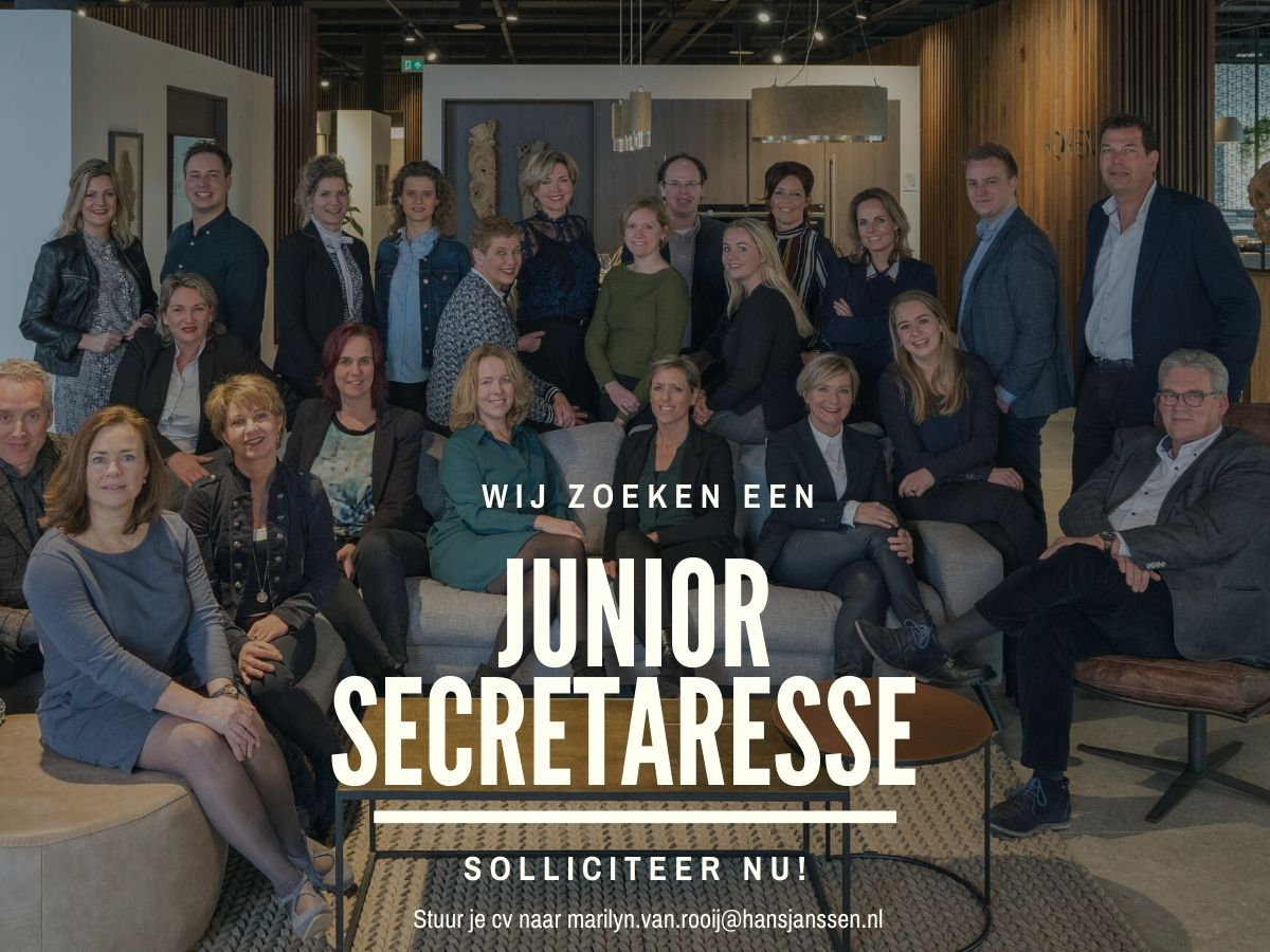 vacature junior secretaresse